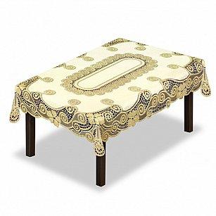 Скатерть №230339-130, кремовый, золотой