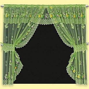 Занавеска Clematis, зеленый, 137*254 см