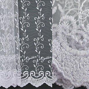 Тюль вышивка эконом Amore Mio RR 81051-w, белый, 300*270 см