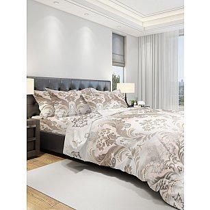 КПБ бязь eco cotton печатный Gradinent, бежевый, серый (1.5 спальный)
