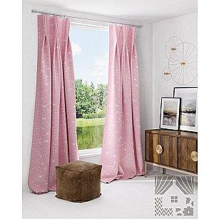 """Комплект штор """"Афелис"""", розовый"""