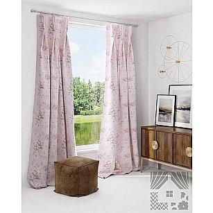 """Комплект штор """"Флоренс"""", розовый"""