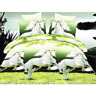 КПБ Микросатин Dream Fly дизайн White Horses