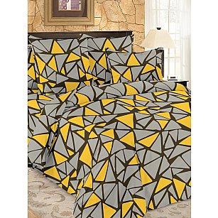 КПБ мако-сатин Debris, желтый, серый