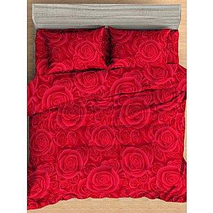 КПБ мако-сатин печатный Deep, красный