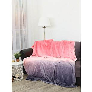 "Плед фланель Absolute ""Градиент"", серый, розовый, 150*200 см"