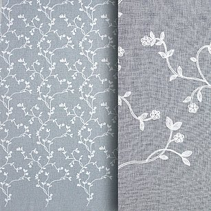 Тюль вышивка Premium RR 61910075-01, белый, 300*270 см