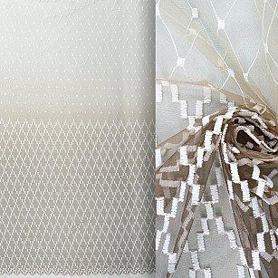 Тюль вышивка Premium RR 62208402-01, венге, 300*270 см