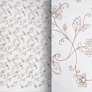 Тюль вышивка Premium RR 62010050-02, кофейный, 300*270 см