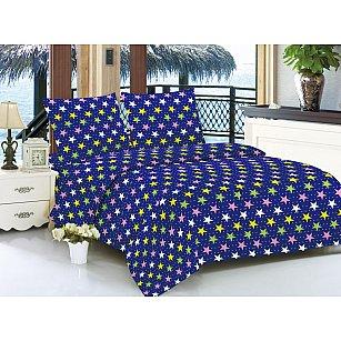 КПБ мако-сатин печатный Tonny (1.5 спальный), синий
