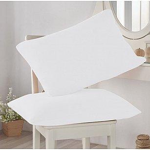 Комплект трикотажных наволочек Amore Mio, белый, 50*70 см