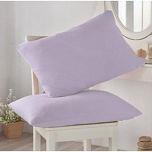 Комплект трикотажных наволочек Amore Mio, лиловый, 50*70 см