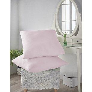 Комплект трикотажных наволочек Amore Mio, розовый, 70*70 см