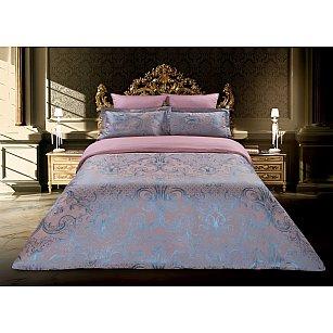 КПБ сатин Buenas noches Letizia (2 спальный), розовый, синий