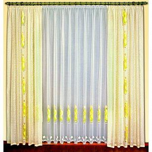 Комплект штор №38120-250, желтый