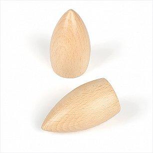 """Комплект наконечников из дерева для карниза """"Орион"""", натуральное дерево"""