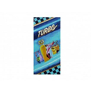 Пляжное полотенце Turbo, 75*150 см, голубой, желтый