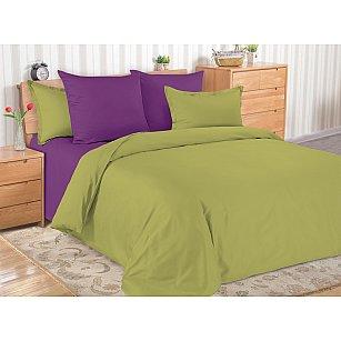 КПБ мако-сатин однотонный Jasper (1.5 спальный), фиолетовый
