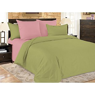 КПБ мако-сатин однотонный Malachite (1.5 спальный), розовый