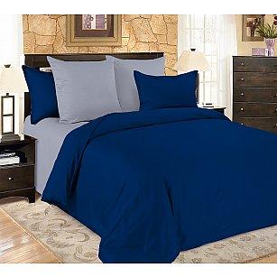 КПБ мако-сатин жатый Sapphire, синий