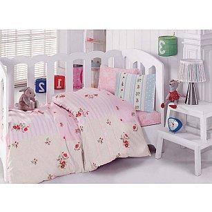 КПБ Cotton Box Ясли Ранфорс с вышивкой дизайн 04 (Новорожденный)