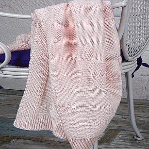 Плед детский вязаный Arya Star, розовый, 90*90 см