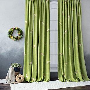 """Комплект штор """"Либерти"""", зеленый, 145*270 см"""