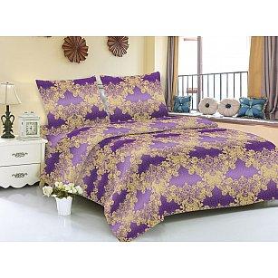 КПБ мако-сатин печатный Zara (Евро), фиолетовый