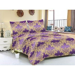 КПБ мако-сатин печатный Zara, фиолетовый
