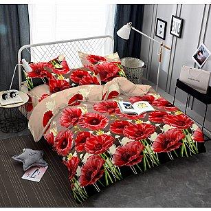 КПБ мако-сатин печатный Eliza (1.5 спальный), красный