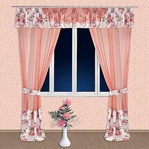 Комплект штор №55527, фиолетовый