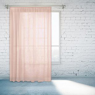 Тюль №55670-3, светло-розовый