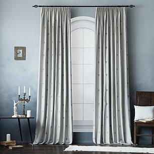 """Комплект штор """"Лилас"""", серый, 145*270 см"""