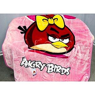 Плед Angry Birds №01, розовый, 160*220 см