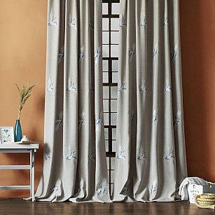 """Комплект штор """"Аника"""", серый, 145*270 см"""