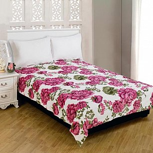 "Плед Amore Mio Weasel ""Розы на белом"", розовый, 150*200 см"