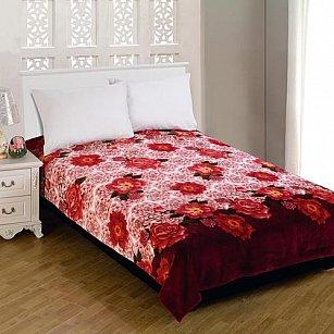 """Плед Amore Mio Weasel """"Цветы красивые"""", бордовый, 180*230 см"""