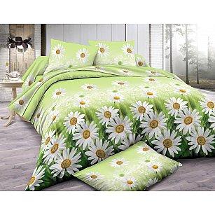 КПБ мако-сатин Amore Mio Meadow (1.5 спальный), зеленый