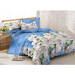 КПБ мако-сатин Amore Mio Darkhan (1.5 спальный), голубой
