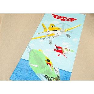 Пляжное полотенце Planes, 75*150 см, голубой