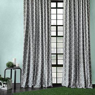 "Комплект штор ""Тристан"", серый, 170*270 см"