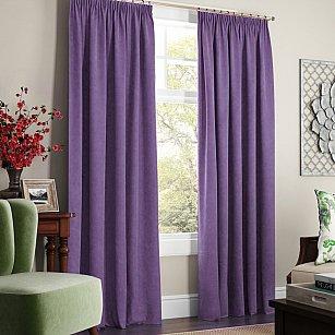 """Комплект штор с подхватами """"Софт"""", фиолетовый"""