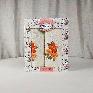 Комплект махровых полотенец Vianna Luxury Series дизайн 17 (50*90; 70*140)