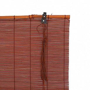 "Бамбуковая рулонная штора ""Осака"", венге"