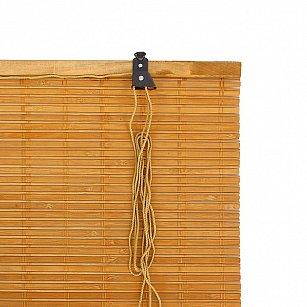 "Бамбуковая рулонная штора ""Кабуки"", светлый дуб, 80 см-A"