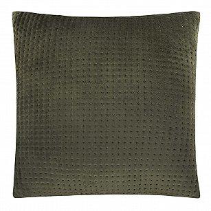 Наволочка декоративная Arya Embossed 3D Diamond, зеленый, 43*43 см