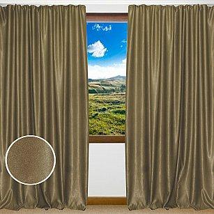 Комплект штор однотонный софт Amore Mio RR 42002-53, коричневый, 200*270 см