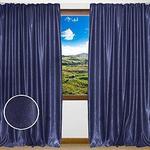 Комплект штор однотонный софт Amore Mio RR 42002-816, синий, 200*270 см