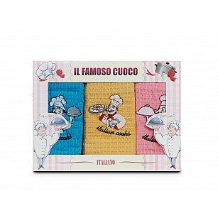 Комплект кухонных полотенец Nilteks Dia Bella Italiano дизайн 08, 50*70 см - 3 шт
