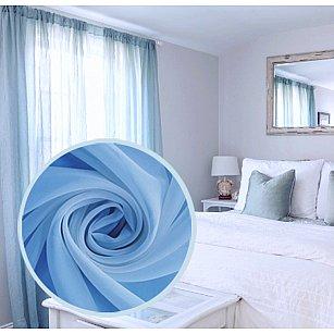 Тюль вуаль однотонная Amore Mio RR MS-24, голубой, 300*270 см